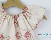 S A L E Floral Garden  tunic dress soft pink 12m to 5T - peasant dress top ready  to ship