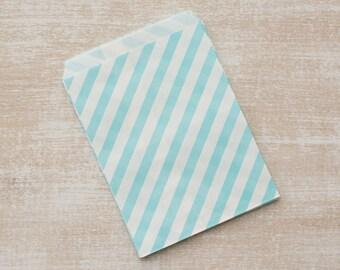 10 light blue paper bag
