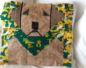 University of Oregon Ducks LABRADOR- QUILT Block  - Pattern Only