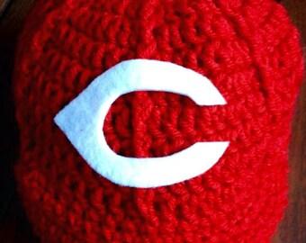Newborn baby Cincinnati Reds baseball cap