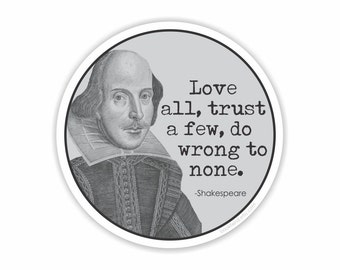 love all shakespeare quote sticker sticker