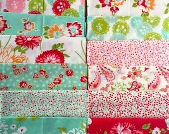 Scrumptious Bonnie & Camille moda fabric 14 FQ set OOP HTF