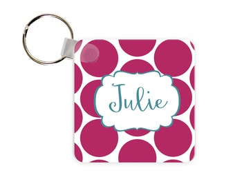Big Dot Personalized Square, Round or Rectangle Key Chain