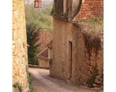 "Fine Art Color Landscape Photography of French Village - ""Down the Lane in Beynac"" 11x14 Print"