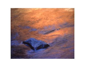 "Fine Art Color Nature Photography of Oak Creek Near Sedona - ""Oak Creek Reflection"""