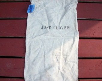 Vintage Awesome Cotton June Clover Seed Bag