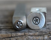 Sale-Summer Sale-Sand Dollar-Metal Stamp-5mm Size-Steel Stamp-New Metal Design Stamps-by Metal Supply Chick