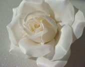 Light Ivory ROSE hair comb wedding flower hair clip / ivory flower / wedding rose comb / flower hair comb pin clip / bridal flower comb