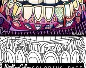 60% Off Today- Dental coloring, Dentist Teeth Tooth Anatomy coloring book, adult coloring book, coloring pages, adult coloring pages, printa