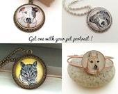 Custom Dog Necklace, Dog Portrait Custom, Personalized Dog Jewelry, Custom Dog Jewelry, Dog Lover Gift - Reserved for Heather