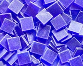 """100 1/2"""" Tumbled Royal Blue Stained Glass Mosaic Tiles"""
