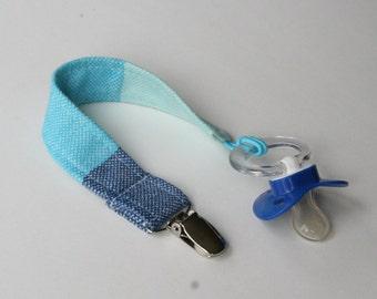Universal Pacifier Clip - Girasol Glacé Blue