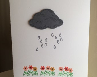 Cloud Silver Lining Greeting Card