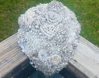 Cascading Wedding Bouquet - Bridal Bouquet - Brooch Bouquet - Broach Bouquet - Cascading Bouquet - Crystal Bouquet - Deposit