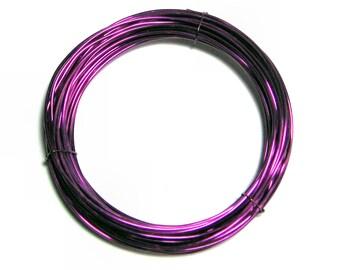 WIRE 24 gauge 10 ft. non tarnish round brilliant Bright Amethyst Inspire Wire