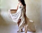 Wedding dress, Boho wedding dress, Bridal gown, Alternative wedding dress, Woodland wedding dress, golden wedding dress, strapless dress