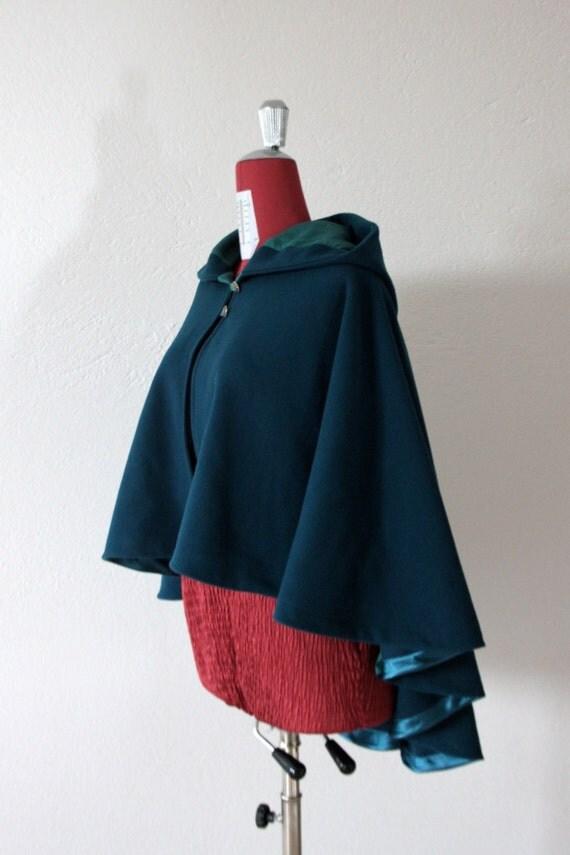 Hooded Cape Wool Cape Women Cape Winter Cape Hooded By