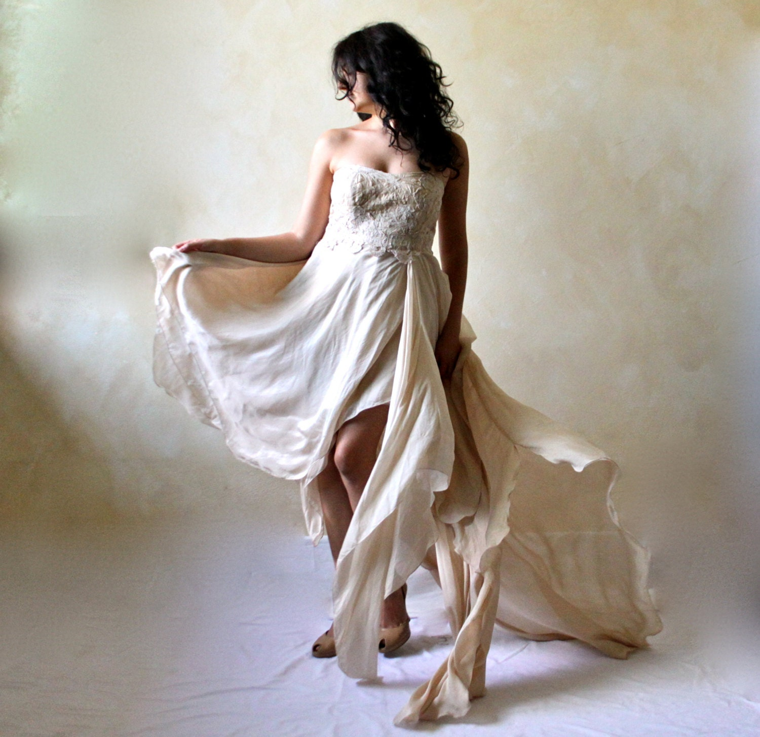 Alternative Wedding Dress S London : Wedding dress boho bridal gown alternative