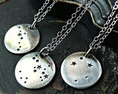 Sterling Silver Constellation Charm Necklace - Constellation Necklace - Zodiac Necklace - Astrological Necklace
