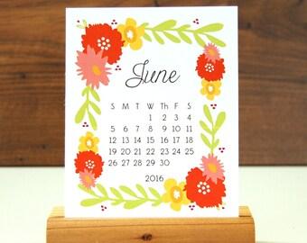 2016 Desk Calendar -  Floral