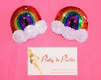 Double Rainbow Burlesque Pasties