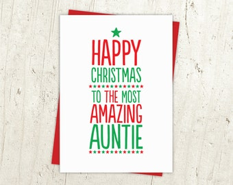 Most Amazing Auntie Christmas Card