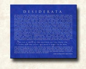 Desiderata Contemporary Print Poem - 18x24 Deep Mount Canvas - ready to hang