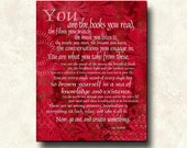 YOU are Mantra Quote Jac Vanek - 11x14 Mounted Word Art Print - motivational inspirational I AM canvas or greeting card too