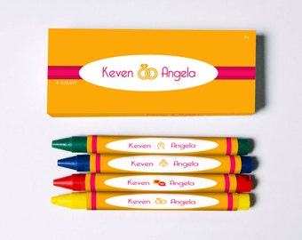 Soulmate Personalized Wedding Crayons (Great Favors to keep all the littles busy)