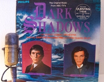 "Dark Shadows Vinyl Record Albums 1960s Television Soap Opera Horror Show TV Robert Cobert Orchestra ""Dark Shadows"" (1969 Philips - no poster"