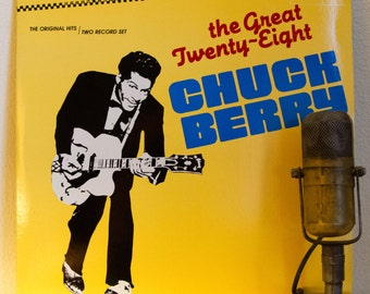 """ON SALE Chuck Berry Vinyl Record Album LPs 1950s Mid-Century St. Louis Rock and Roll Roots Electric Guitar """"The Great Twenty-Eight"""" (1984 Ch"""