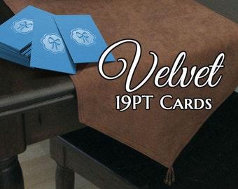 1000 Business Cards - Velvet laminated - 19 PT thick stock - full color custom printed