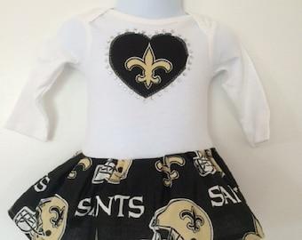 New Orleans Saints Inspired Dress