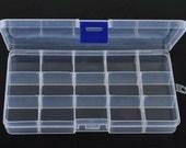 1 x clear plastic storage beading box