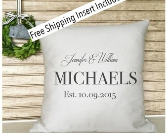 Wedding Gift - Bridal Shower Gift - Bride & Groom - Personalized throw Pillow - Insert Included - FREE SHIPPING