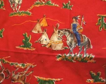 little cowboy linen napkin