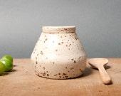 bowl with lid danish keramik unique speckled ceramics handmade by eeliethel scandinavian studio pottery decor poterie ceramic