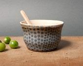 bowl danish black dots unique vessel poterie breakfast ceramica polli pots handmade studio white pottery scandinavian