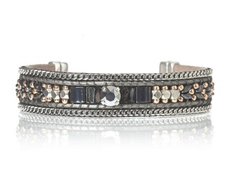 Beaded Miyuki tila bracelet - handwoven bead bracelet - gift for her - holidays gift - christmas gift - beadweaving bracelet