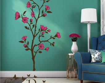 Wall Decal, Magnolia Tree Decal,  vinyl wall decal, Removable Wall Decals., Removable Wall  Stickers,  Decorative Decals, Nature Stickers
