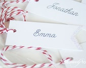 Personalized Gift Tags - Glittered with Christmas Spirit