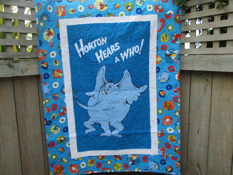 Dr Seuss Baby Quilt Horton Hears A Who Unisex Crib Bedding