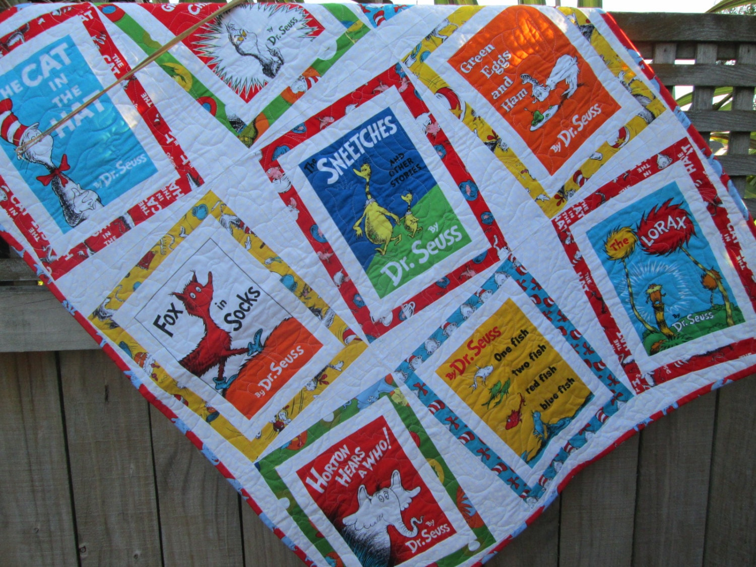 Baby Quilt Dr Seuss Book Titles Cat In The Hat Lorax Baby