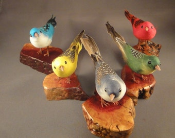 Craft Bird - Perched on a Manzanita Root - use on mantel or as a paperweight