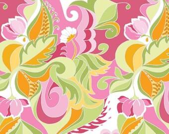 Riley Blake Designs Fabric Extravaganza Floral Pink Fabric - 1 yard