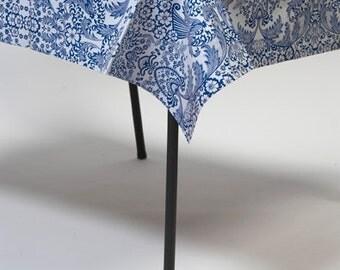 56x80 Toile Blue Oilcloth Tablecloth