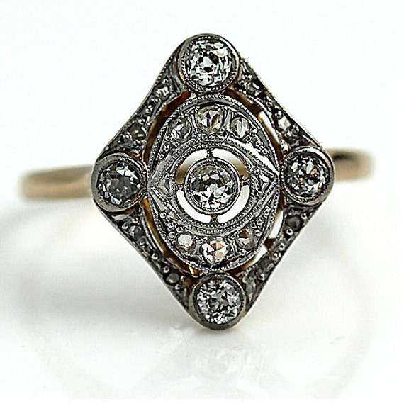 edwardian filigree engagement ring art deco by artdecodiamonds