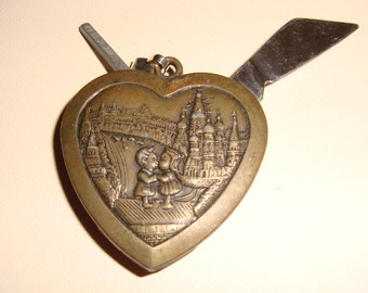 Vintage Sweetheart Valentine Pocket Knife Pendant