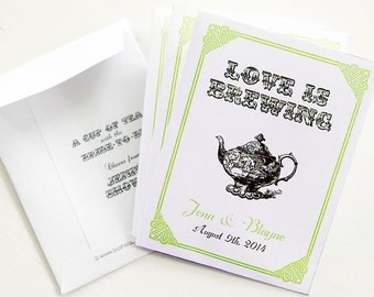 LOVE is BREWING Par-Tea™ Favors - #Wedding #Bridal #Tea #Favors
