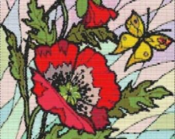 Digital PDF File Bead Stitch Patterns in Brick Peyote Loom - RB Flower 070